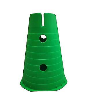 Cones de tráfego plástico, cones de atividade esportiva multiuso para crianças 2 pacote (verde)