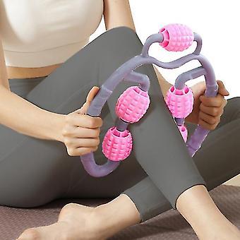 Trigger Point Roller Massager Voor Onderarm Elleboog Hand Arm En Been (Purplegray)