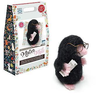 Mister Mole Needle Felting Kit för nybörjare