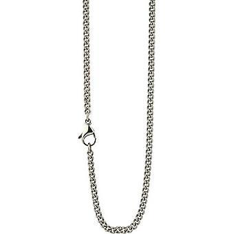 Ti2 Titanium fijne Curb Chain - zilver