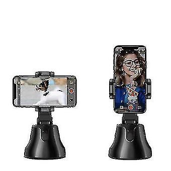 Automaattinen kasvojen seuranta älykäs ammunta puhelimen kameran pidike 360 kiertoteline (musta)