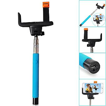 (Blue) HTC U Ultra Universal Bluetooth Wireless Selfie Stick Monopod Built-in Remote Shutter Pocket Sized