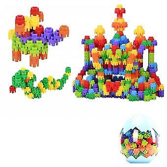 Snowflake Diy Variety Six Dimensional Building Block Dinosaur Egg(Blue)