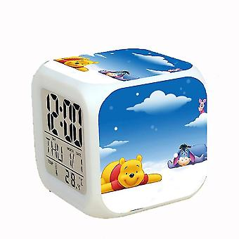 LED Wecker Winnie The Pooh 7 Farbwechsel Digital mit Thermometer