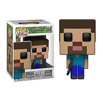 (Steve) Funko Pop Minecraft Creeper Diamond Steve Figures