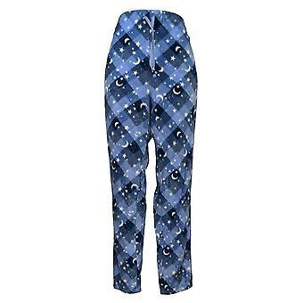 Soft & Cozy Women's Novelty Printed Fleece Pajama Pants Blue 662992