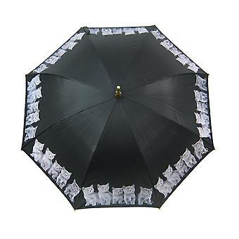 48 polegadas gatinho cinza bambu vara guarda-chuva