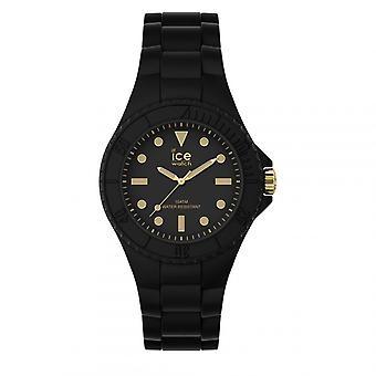 Mixed Watch Ice Watch ICE Generation Horloges - Zwart goud - Klein - 3H 019143 - Zwarte Siliconen Band
