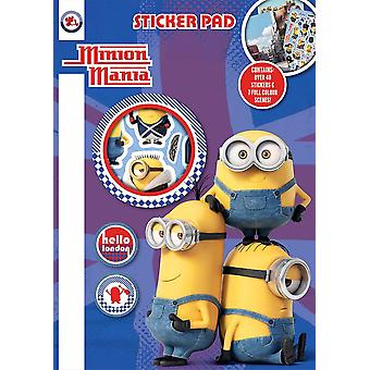 Minon Mania Sticker Pad Kids Activity Stickers Minions Xmas Gift Kids