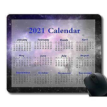 Keyboard mouse wrist rests 220x180x3 mouse pad 2021 calendar rectangle gaming rubber mousepad galaxy space universe