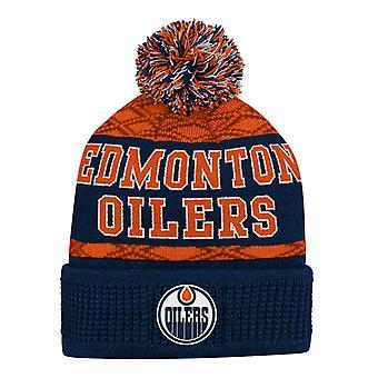 Copii NHL pălărie de iarnă - PUCK MODEL Edmonton Oilers