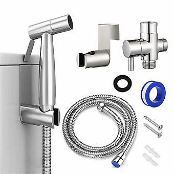 Bidémunstycke Toalett Spray Gun (rostfritt stål Kit (7/8 Vattenavskiljare))
