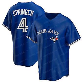 Men's Baseball Jersey #4 Springer #99 Ryu #27 Guerrero Jr. Blue Jays Player Jersey T-shirt Game Fans Sports Baseball Uniforms S-3xl
