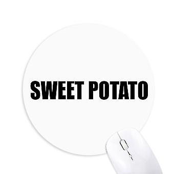 søtpotet vegetabilsk mat runde sklisikker gummi musemat spill kontor musemat