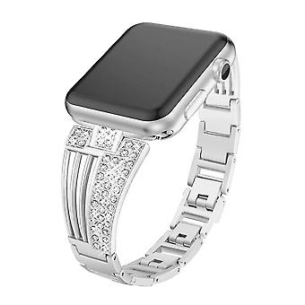 Replacement Smartwatch Bands, Stainless Steel Smart Watch Band Alloy Metal Bracelet Scalloped Shape Design Fashion Wristband For Fitbit Versa & Fitbit