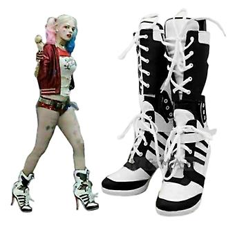 Harley Quinn Suicide Squad Boots Heel Shoes Cosplay