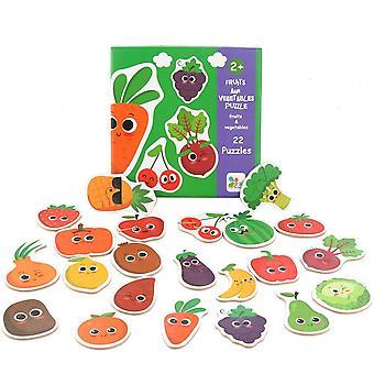 Gyümölcs zöldség gyerek blokk megfelelő puzzle, puzzle felvilágosodás játék