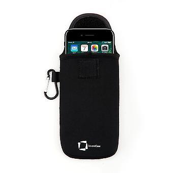 InventCase Neoprene Protective Pouch Case pour Apple iPhone 7 - Noir