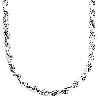 Sterling 925er Silber Bling Kordelkette - ROPE DC 5,6 mm