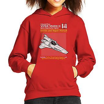 Battlestar Galactica Viper Service And Repair Manual Kid's Hooded Sweatshirt