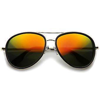 Mens Pilotenbrille mit UV400 Schutz verspiegelte Linse