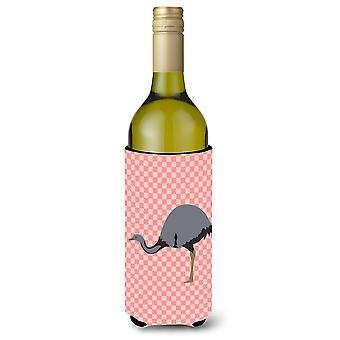 Rhea Check rosa botella de vino Beverge aislador Hugger
