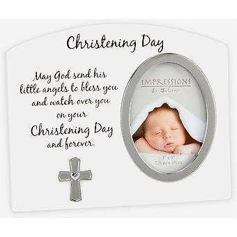 Widdop Christening Day Cross Photo Frame