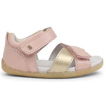 Bobux paso vela sandalias Blush rosa oro