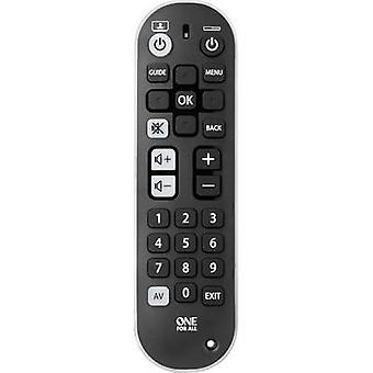 One For All Zapper+ URC6820 universelle Remote control Black, White