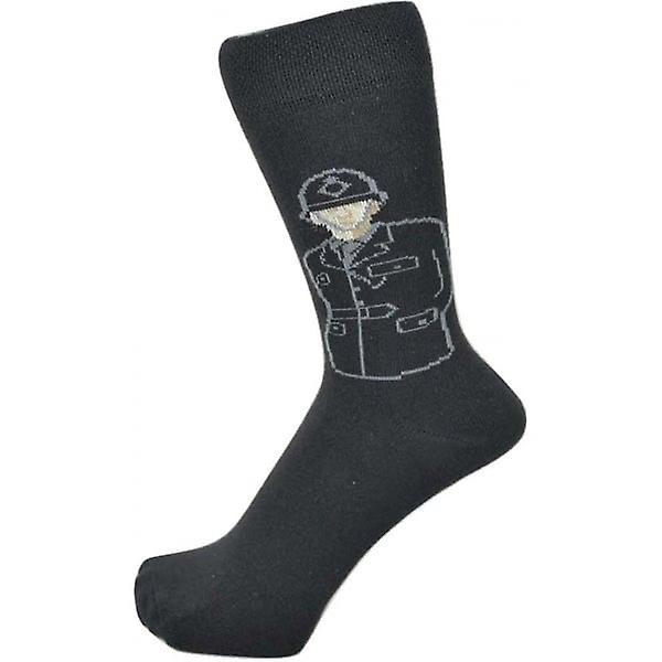 Union Jack Wear British Policeman Design Men's Socks
