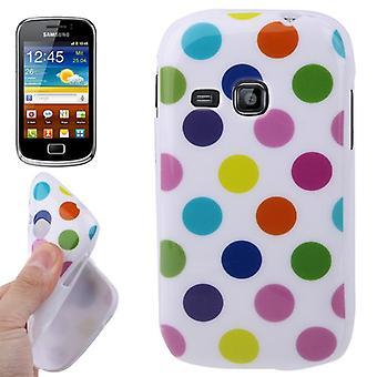 Suojakotelo mobiili Samsung Galaxy mini 2 S6500 valkoinen/värillinen