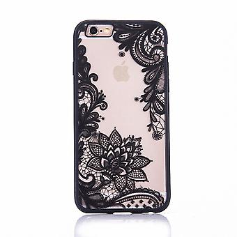 Mobile sag mandala for Apple iPhone 7 design tilfælde dække motiv blomst dækning case kofanger sort