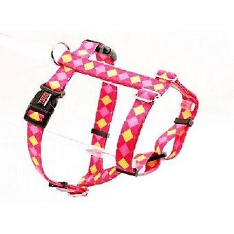 Tuff Lock Harness X kleine Argyle Pink
