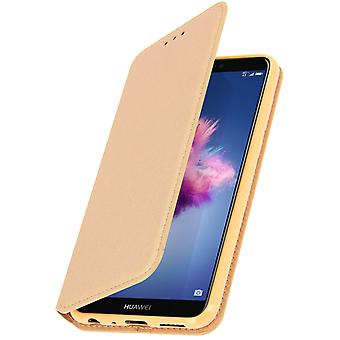 Slim Case, Classic Edition stand case with card slot for Huawei P Smart - Gold