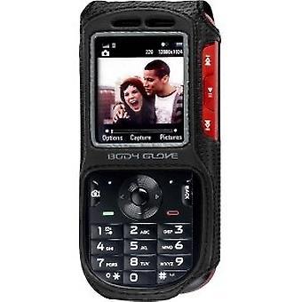 Luva do corpo cabido caso instantâneo para Motorola VE440 (preto)