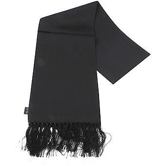 Sciarpa di seta pianura cravatte Knightsbridge - nero