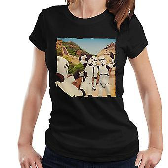 Original Stormtrooper Selfie Great Wall Of China Women's T-Shirt