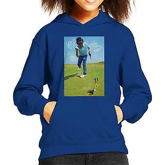 TV Times Ronnie Corbett Playing Golf 1971 Kid's Hooded Sweatshirt