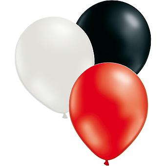 Balloons Mix 24-Pack Mix of Red, White and Black