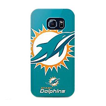 Mizco Sports NFL Oversized Snapback TPU Case for Samsung Galaxy S6 Edge (Miami Dolphins)