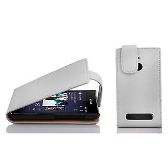 Cadorabo fall för Sony Xperia E1 fall täcka - Flip telefonfodral i texturerat faux läder - Case Cover Skyddande fall Bok Vikning Style