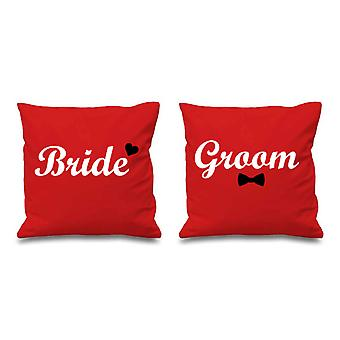 Bride And Groom Red Cushion Covers 16