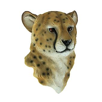 Kian Cheetah Head Mount Wall Statue Bust