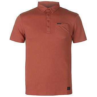 Firetrap Mens Blackseal fiskbensmönster Polo T Shirt T-Shirt Kortärmad topp