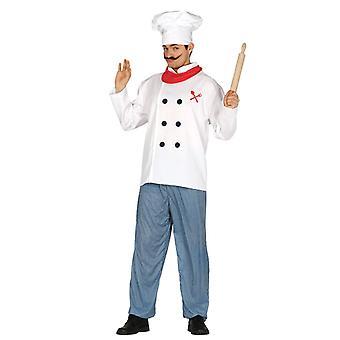Déguisement de mens Chef cuisine blancs