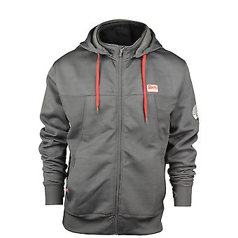 Form Athletics Mens Relay Track Jacket -Charcoal/Red