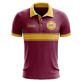 Sri Lanka Konzept Stripe Polo-Shirt (Maroon)