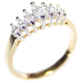 Ah! Jewellery Two Tone Marquise Cut Ring