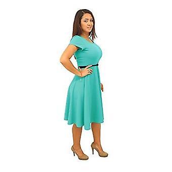 Les femmes de dbg à manches courtes encolure dégagée polyester robe d'été