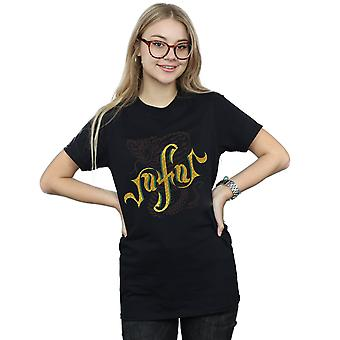 Aladdin film Jafar serpent logo Boyfriend fit T-Shirt Disney femmes